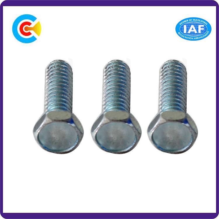Stainless Steel/4.8/8.8/10.9 Galvanized Hexagonal Flange Locking Industrial Fasteners Screw Bolt