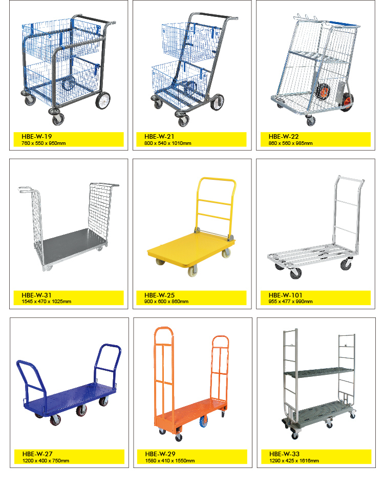 Foldable Heavy Duty Platform Hand Truck Warehouse Trolley Cart