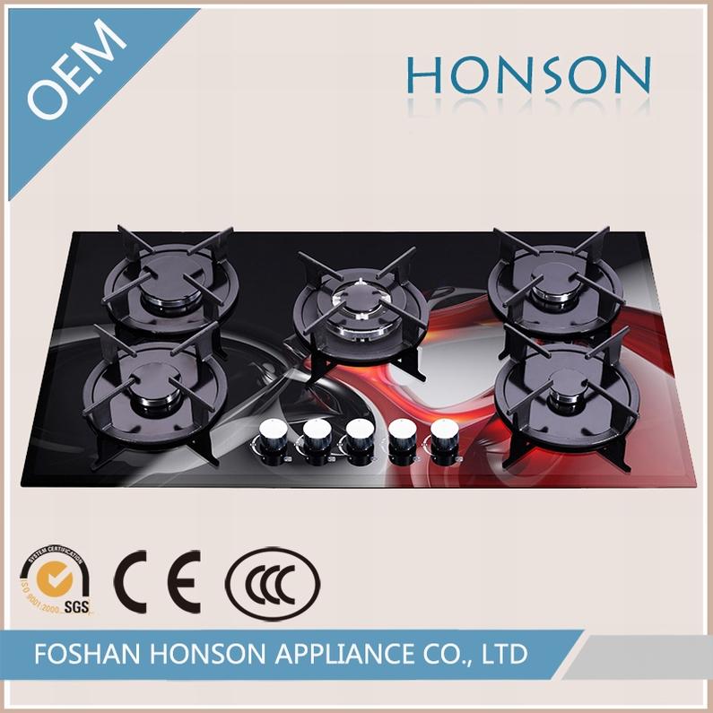 Wholesale Luxury High Quality Glass Top Gas Range Hob