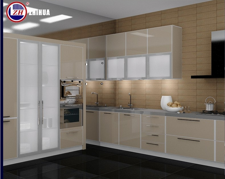 Modern Mini Small Flat Pack Kitchen Cabinet Designs with Countertop Stone