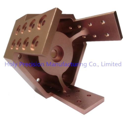 High Quality Aluminum CNC Machining for Robotics Parts with Rose Gold Color