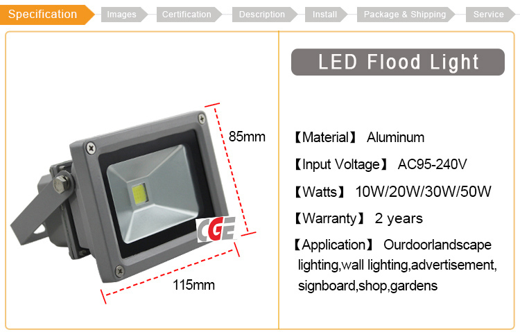 High Quality Outdoor Waterproof IP65 Solar 50W LED Outdoor Lighting