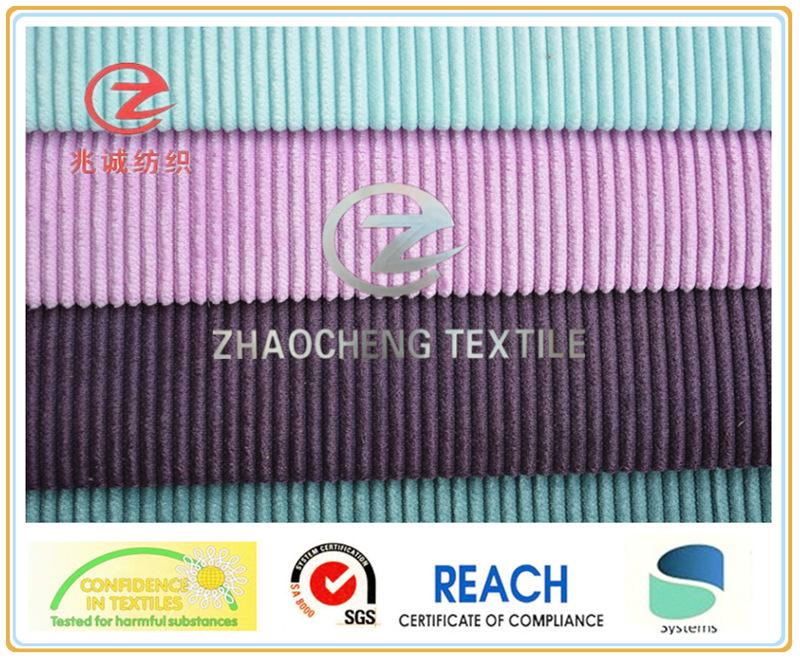 6W Poly/Nylon Bonded Corduroy Fabric for Sofa Use and Jacket (ZCCF056)