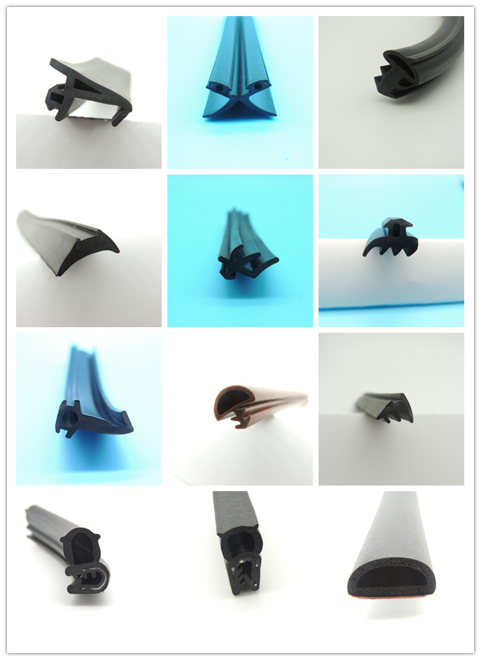 Customized Various Shapes Heat Resistant Extrusion Silicone Rubber Strips
