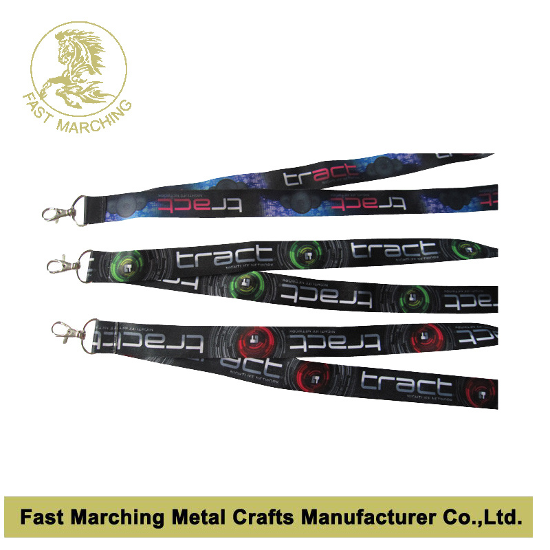 Promotional Custom Heat Transfer Printed Neck Lanyard Ribbon Strap