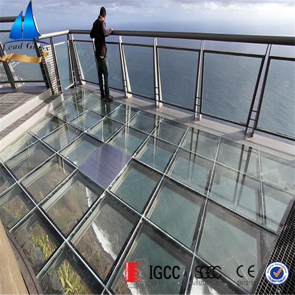 triple floor laminated glass