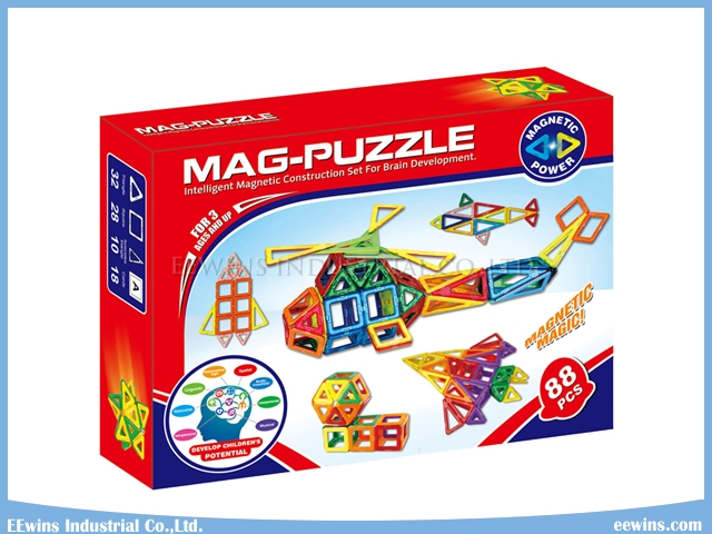 88PCS Mag Building Blocks Toys Magnetic Toys Puzzle Wisdom Educational Toys for Kids