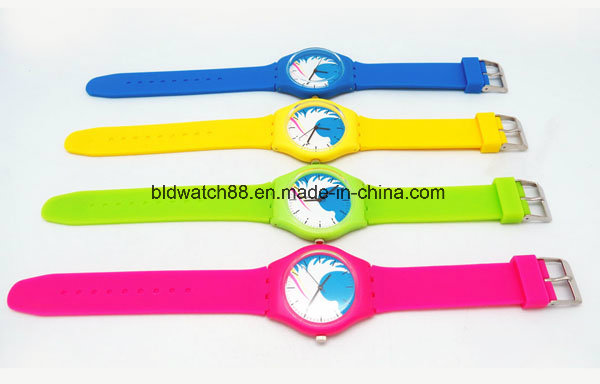 Hot Sale Analog Silicone Watches Unisex Toy Watch Colorful