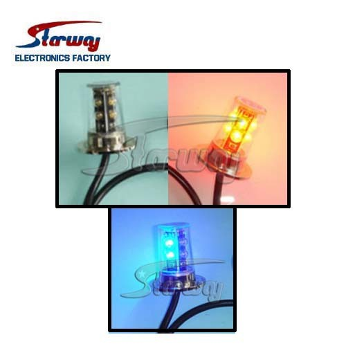 Warning Super LED Hideaway 4 Head Strobe Kits (LED337E)