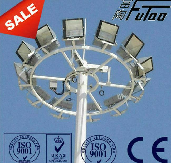 Futao 25m Hot DIP Galvanized High Mast Pole