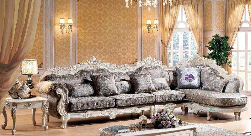 Wood Fabric Sofa for Living Room Furniture (112)