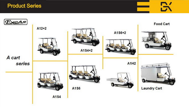 Aluminium Chassis 2 Seater Electric Golf Buggy China Made