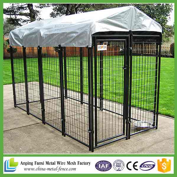 New Products 2016 Black Powder Coated Welded High Quality Dog Kennel