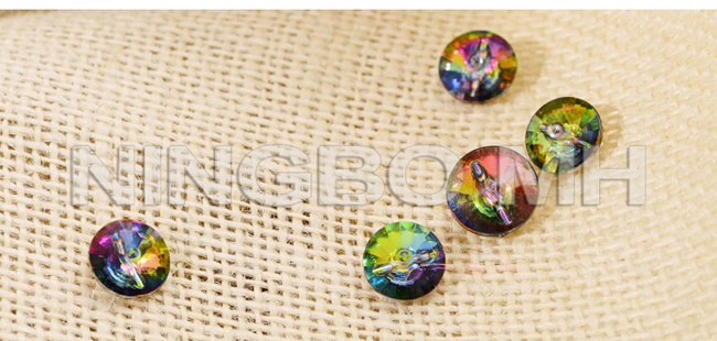 Colorful Electroplating Shank Acrylic Button
