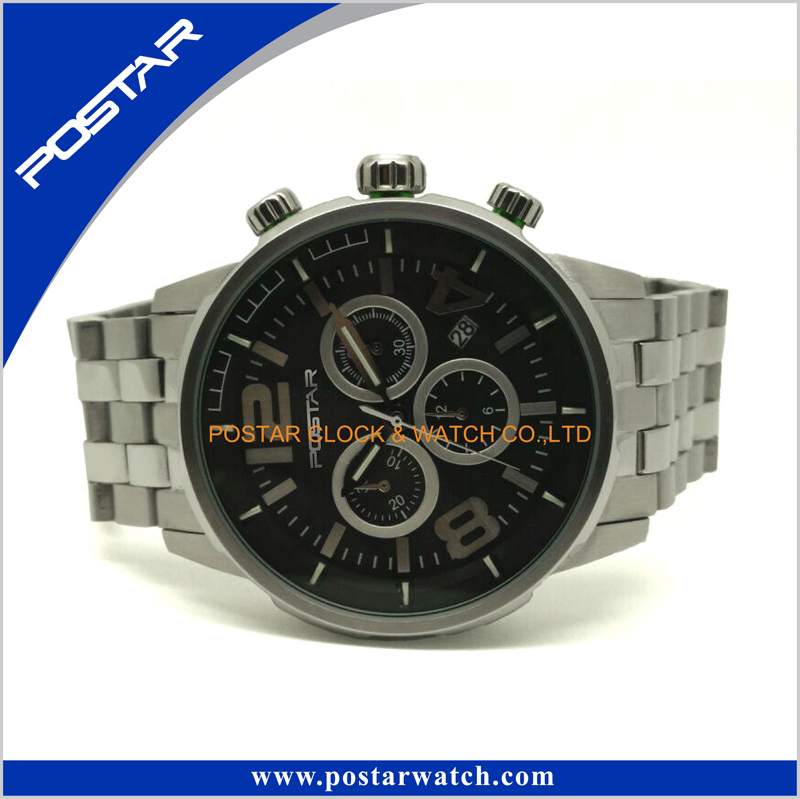 Online Shopping Ce Popular Quartz Watch with 316L Stainless Steel Band