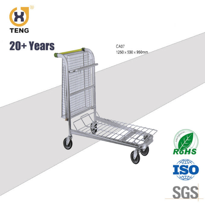 Foldable Platform Luggart Trolley Cart for Warehouse