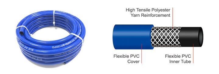 PVC Rubber Flexible Braided Pneumatic Air Compressor Intake Coil Hose