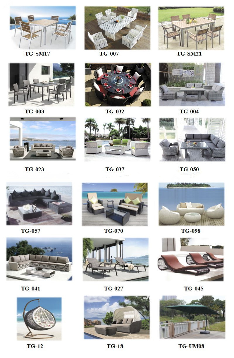 Hot Sale Outdoor Rattan Sofa Set with Cushion