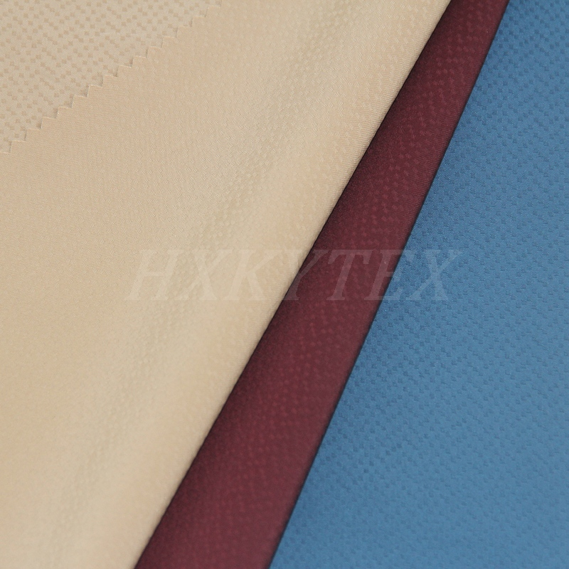Semi Memory with DOT Dobby Stretch Polyester Fabric