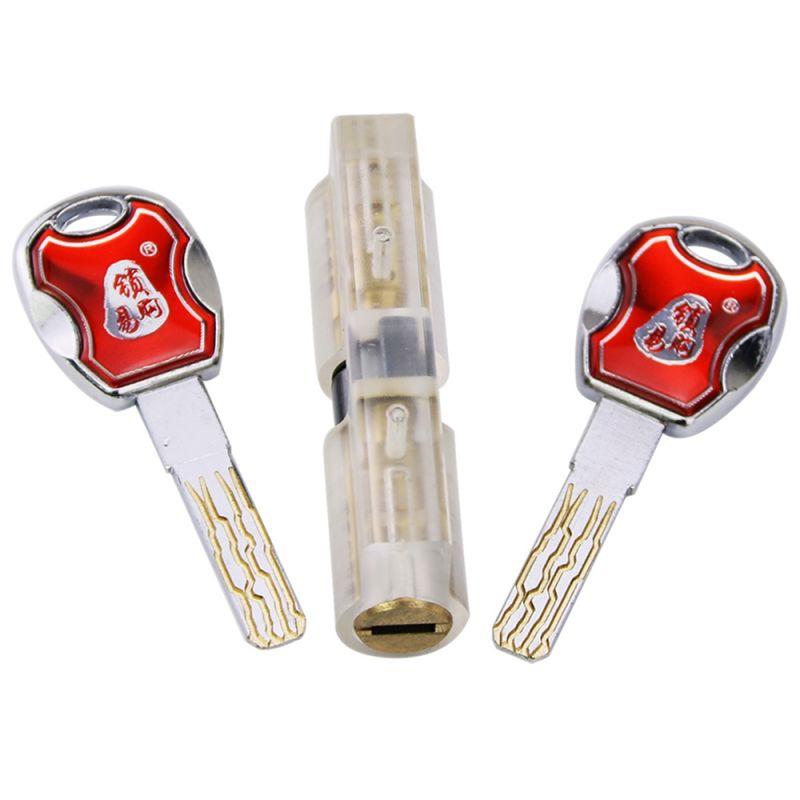 Transparent Blade Lock Core 8 Tracks Super C Level for Locksmith Training