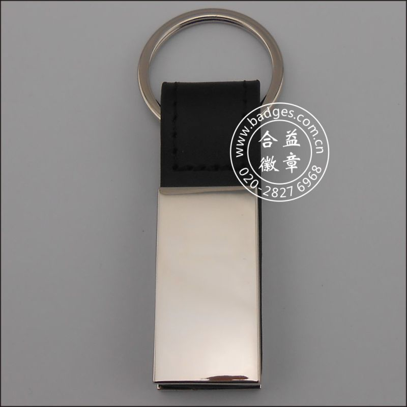 Custom Leather Keychain, Organizational Leather Key Ring (GZHY-KA-057)