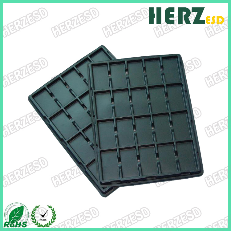 ESD Black Plastic Storage Blister Packing Tray