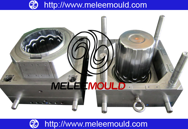 Paint Bucket with Lid Plastic Injection Mould