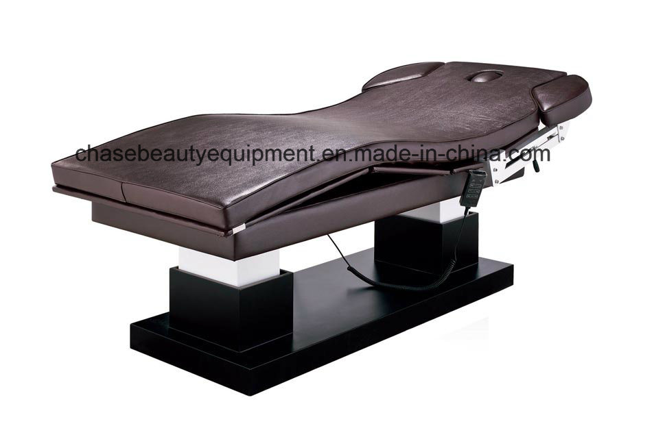 Coffee Color Leather Beauty SPA Electric Massage Bed Selling