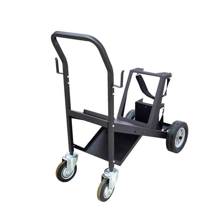 4 Wheel Supermarket Cargo Hand Trolley Heavy Duty Steel Cart Trolley