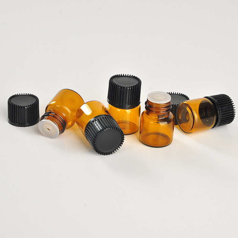 1ml Brown Glass Essential Oil Bottle (NGB1141)