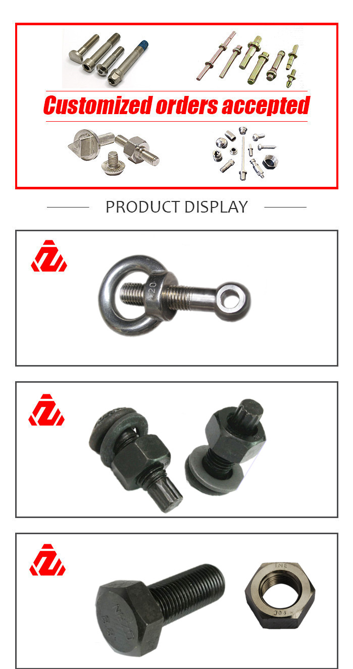 China Factory Custom Wholesale Different Types of Bolts