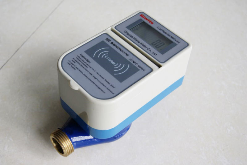 Smart Prepaid Flow Water Meter with Brass Water Meter Body