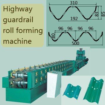 W Beam Highway Guardrail Roll Forming Machine