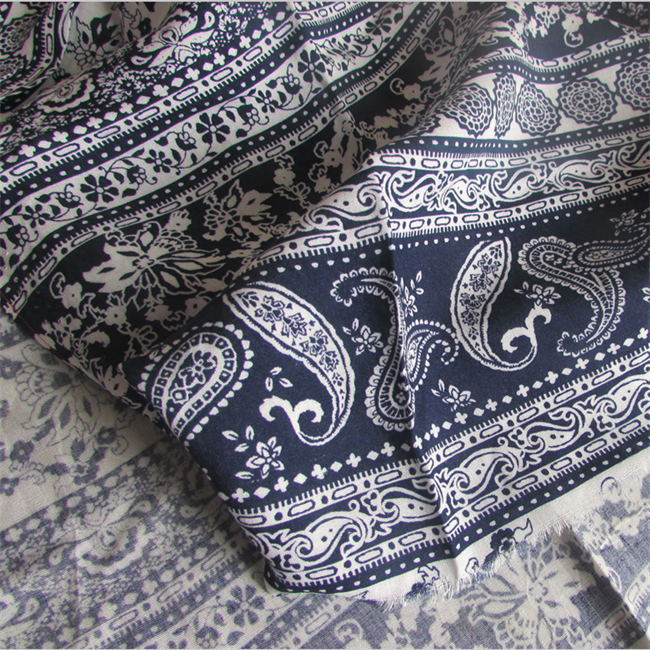 Dyed and Printed 100%Rayon Fabric for Lady Garment