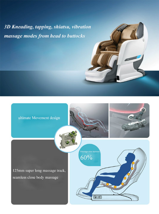 2016 High Quality 3D Zero Gravity Massage Chair