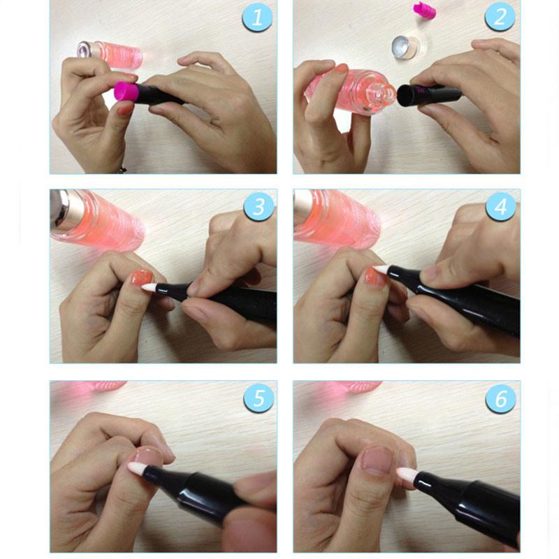 Plastic Nail Polish Pen, Nail Art Pen 5ml (NRP08)