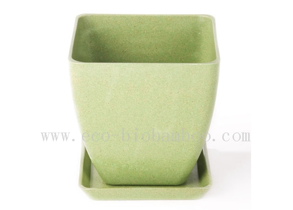 Biodegradable Natural Bamboo Fiber Flower Pot (BC-F1007)