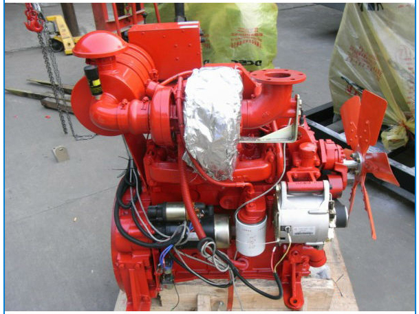 Cummins 4BTA3.9 Diesel Engine Used for Fire Pump