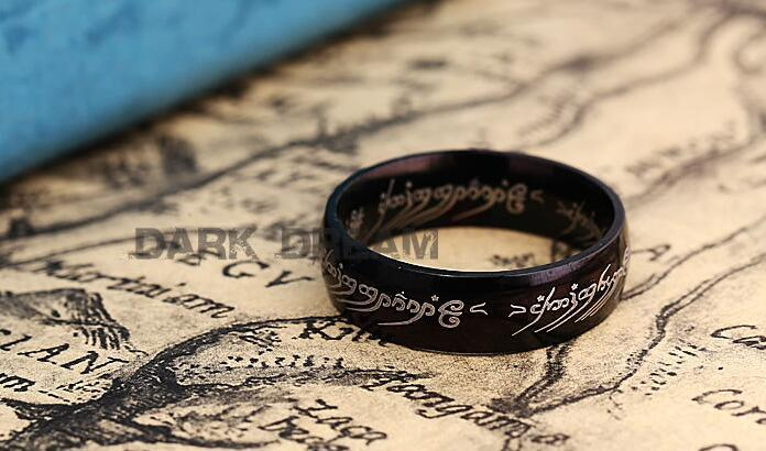 Stainless Steel Fashion Ring Retro Black Color 16-18 Size