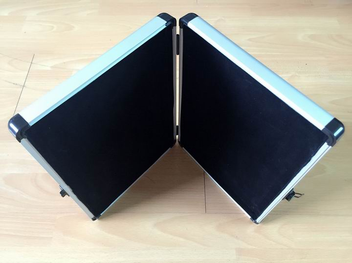 Whole Aluminum Frame Briefcase and Velvet Lining