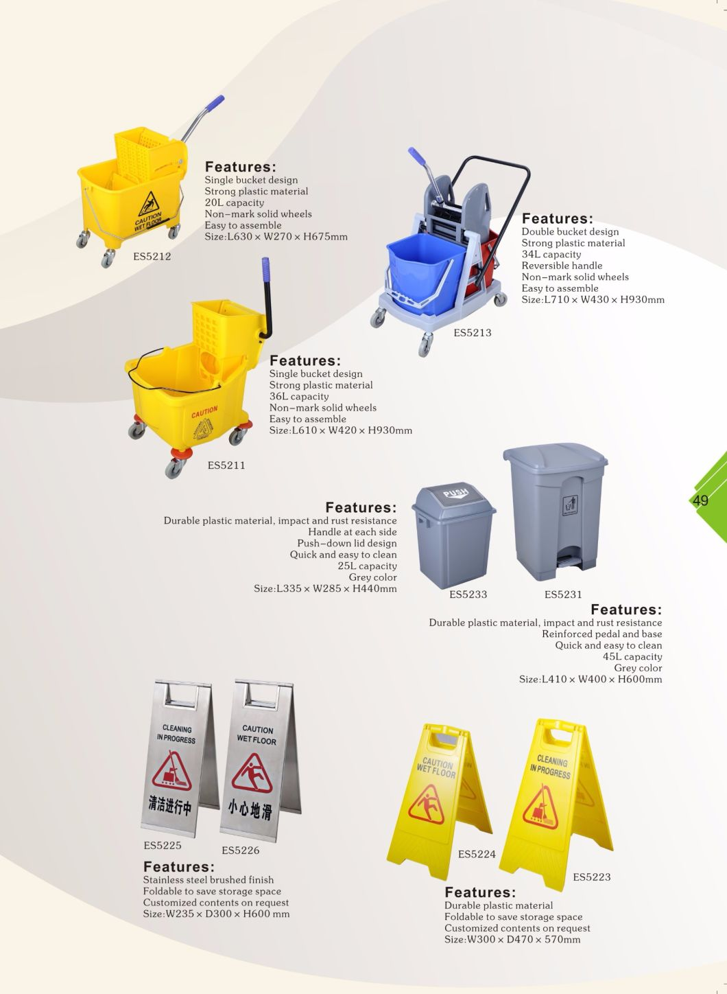Reinforced Pedal and Base Recycling Garbage Waste Bin for Hotel