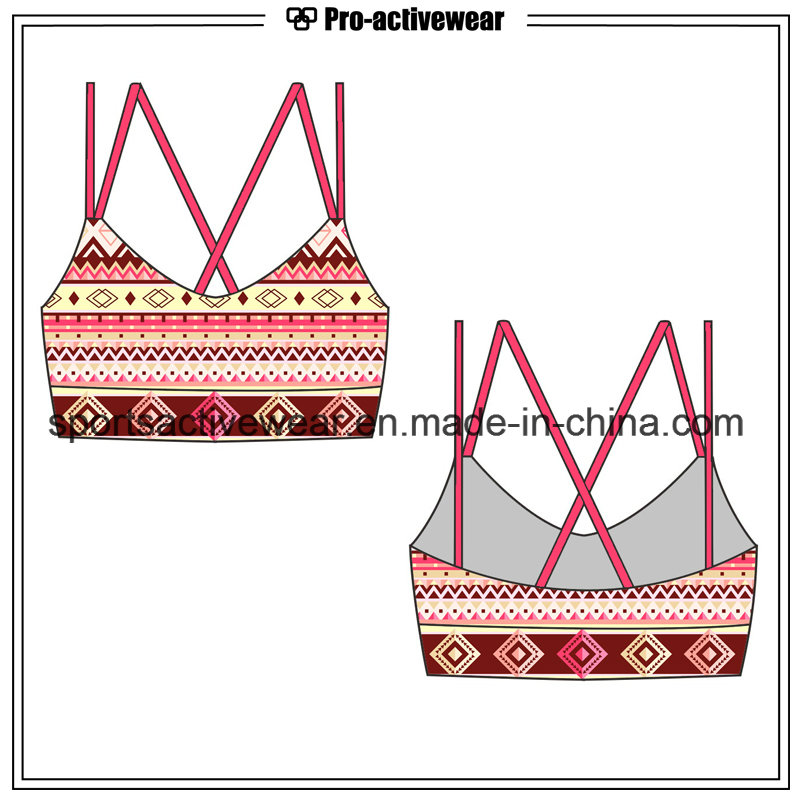OEM High Quality Cheap New Design Sublimation Sexy Ladies Sport Bra