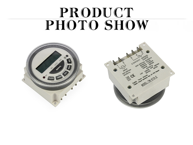 LCD Digital Power Programmable Timer Time Switch Relay AC 12V 16A 168 Hours