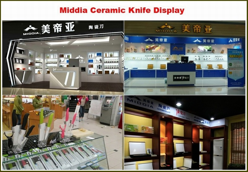 Fashionable Ceramic Santoku/Sushi/Pizza Knife with ABS+TPR Handle