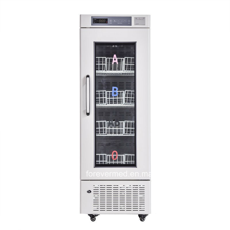 High Quality Double Door Blood Bank Refrigerator