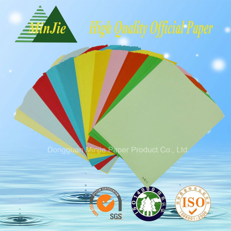Wholesale 80GSM Color Copy Paper Printer Paper with A4 Letter Size in High Quality