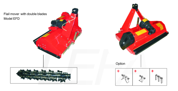 Behind Tractor Flail Mower with Double Blades for Sales Approved Ce