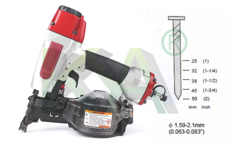 Cn452s Pneumatic Coil Nailer for Packaging, Construction, Pallet