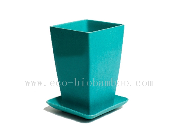Biodegradable Bamboo Fiber Flower Pot (BC-F1004)