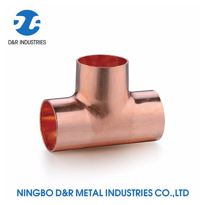 Round Head 3 Way Copper Elbow Pipe Fitting